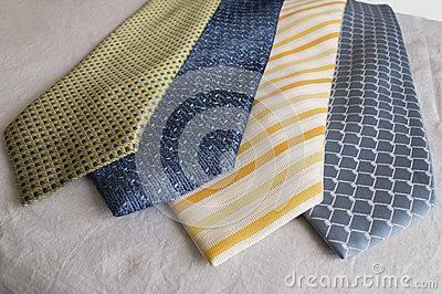 A group of modern neckties