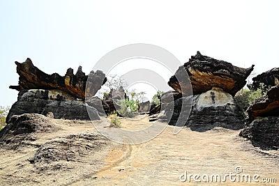 Group of mushroom stone at Muk-da-han park