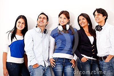 Group of music lovers