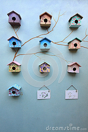 Free Group Of Bird House Royalty Free Stock Photography - 25657807