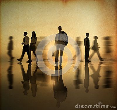 Free Group Of Business World People Walking By Side In The Sunset Stock Photography - 37443172