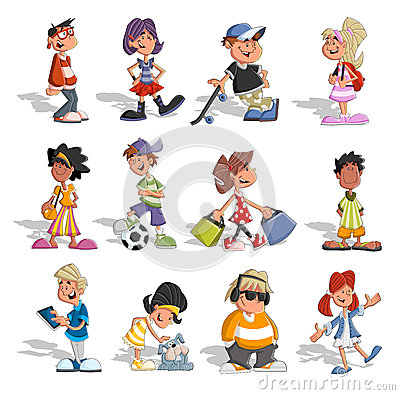 Free Group Of Cartoon People Royalty Free Stock Images - 26694379