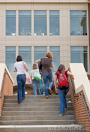 Free Group Of College Girls Stock Photo - 9465570