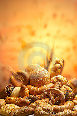 Free Group Of Different Bread Products Stock Photo - 2016130