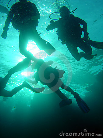 Free Group Of Divers Stock Photo - 653610