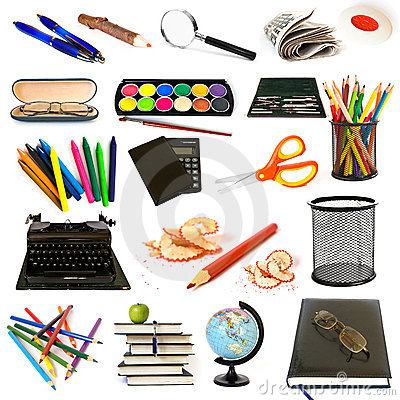Free Group Of Education Theme Objects Stock Images - 21741374