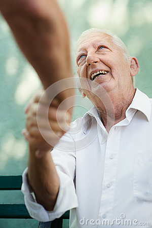 Free Group Of Happy Elderly Men Laughing And Talking Stock Images - 25534314