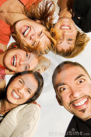 Free Group Of Happy Friends Royalty Free Stock Photos - 6435658