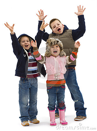 Free Group Of Happy Kids Stock Images - 10698374