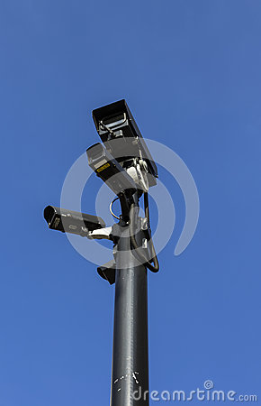 Free Group Of High End Security Cameras Royalty Free Stock Image - 32321816