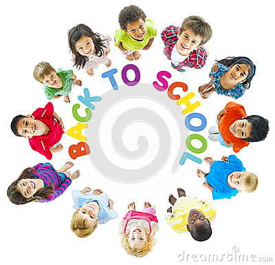 Free Group Of Kids With Back To School Royalty Free Stock Photo - 41108395
