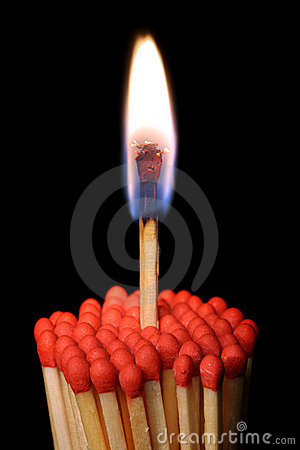 Free Group Of Matchsticks Stock Photography - 18003822