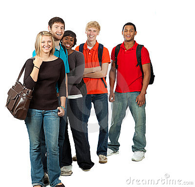 Free Group Of Multi-racial College Students Stock Image - 11570321