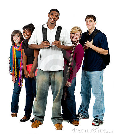 Free Group Of Multi-racial College Students Royalty Free Stock Image - 11570336