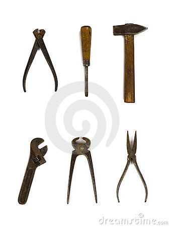 Free Group Of Old Tools Royalty Free Stock Photo - 3979485