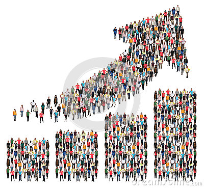 Free Group Of People Success Business Profit Growth Chart Arrow Sales Stock Photo - 92638450