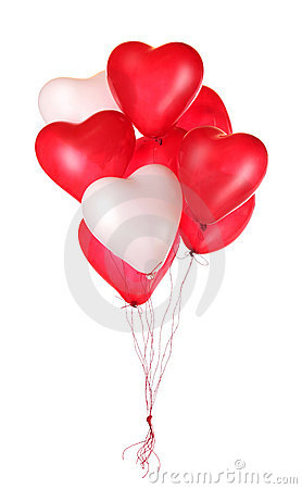 Free Group Of Red Heart Balloons Stock Photo - 22997990