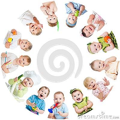 Free Group Of Smiling Kids Babies Children Stock Photos - 31406253