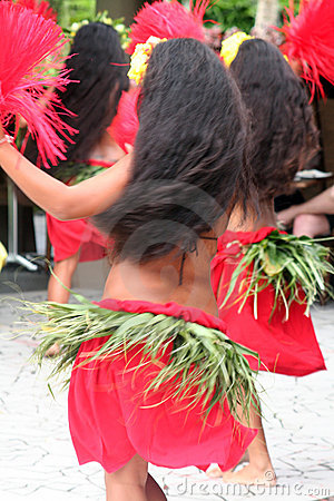 Free Group Of Tahitian Dancers Royalty Free Stock Photos - 711588