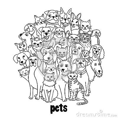 Free Group Of Various Pets Stock Photography - 100366072