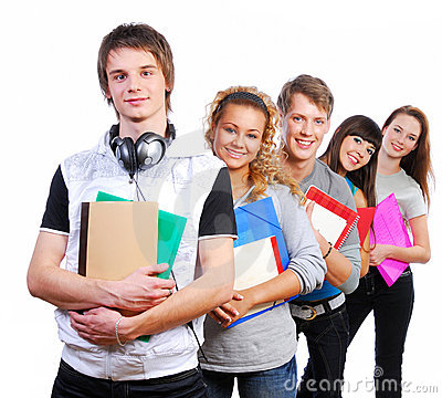 Free Group Of Young Smiling Students Stock Image - 7145981