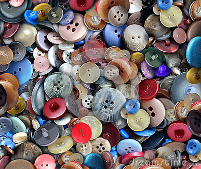 Group Of Old Buttons