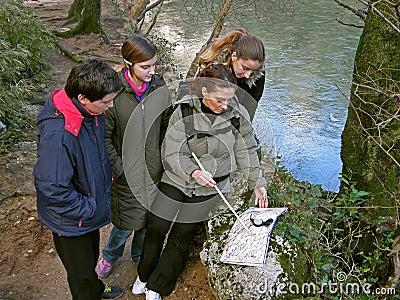 Group orienteering in nature