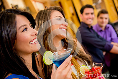 Group of people at the bar