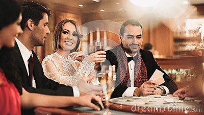 Group of people in casino