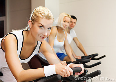 Group of people doing exercise