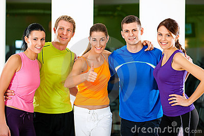 Group of people in gym