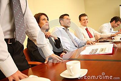 group of people having fun during informal business meeting