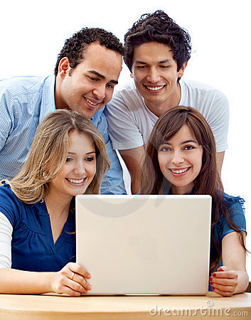 Group of people with a laptop