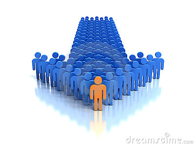 Group of people and leader