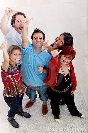 Group of people with thumbs-up