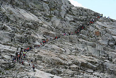 Group of people trekking