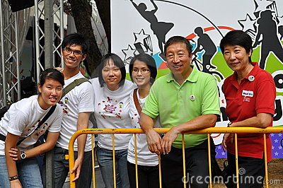 Group photo during Youth Olympic Games logo launch Editorial Photography