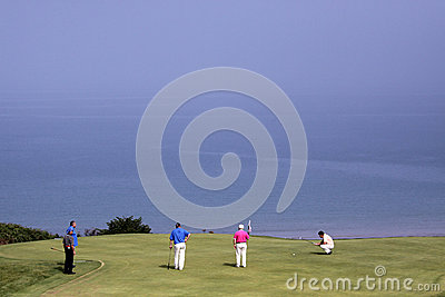 Group of players at the Pleneuf Val Andre golf Challenge 2013 Editorial Stock Image