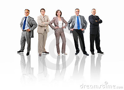 Group portrait of a team of senior business people