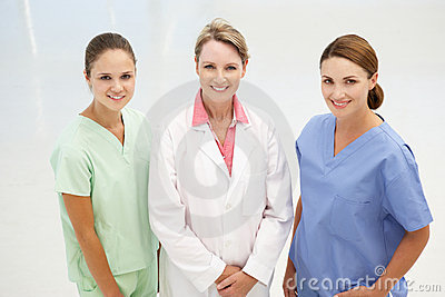 Group of professional medical women