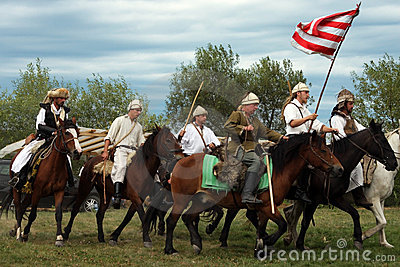 Group of riders making a demonstration Editorial Stock Photo