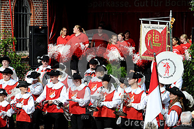 Group  Ruhlandbuehne -   Street Parade in Bochum Editorial Photo