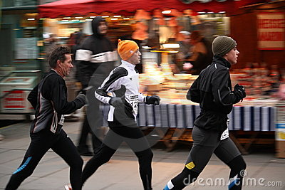 Group of Runners at the Silverster Lauf 2008 Editorial Image