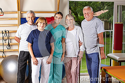 Group of senior people