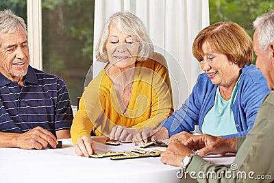 Group of senior people playing