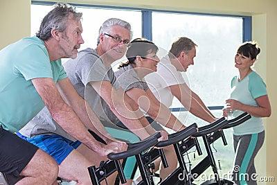 Bikes For Senior Women Senior Women Using Spinning