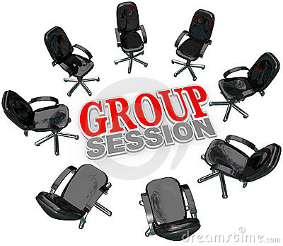 Group Session Meeting Chairs Circle Discussion
