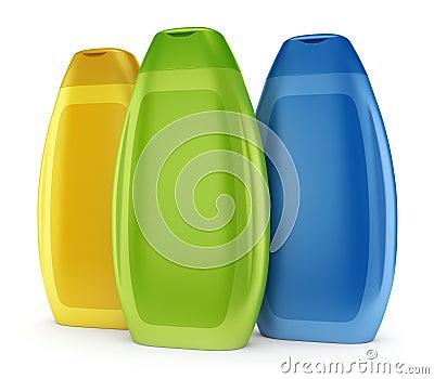 Group of shampoo bottles