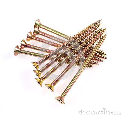 Group of shiny screw