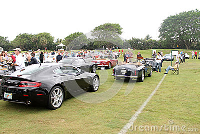 Group shot of various aston martins models Editorial Image